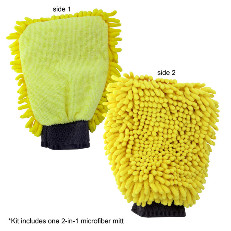 microfiber mitt from auto detail and polish kit